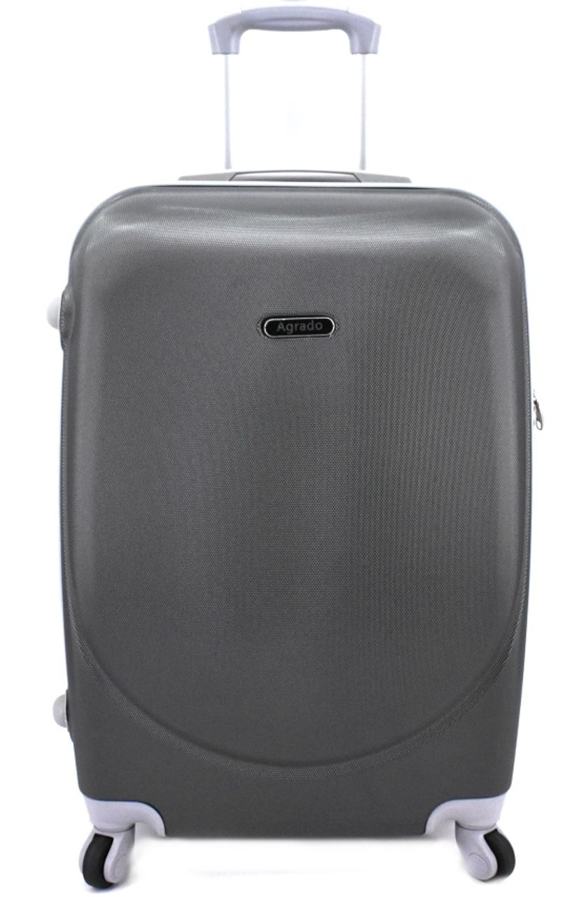 Cestovní kufr skořepinový na čtyřech kolečkách Agrado (L) 90l - tmavě šedá 6011 (L)