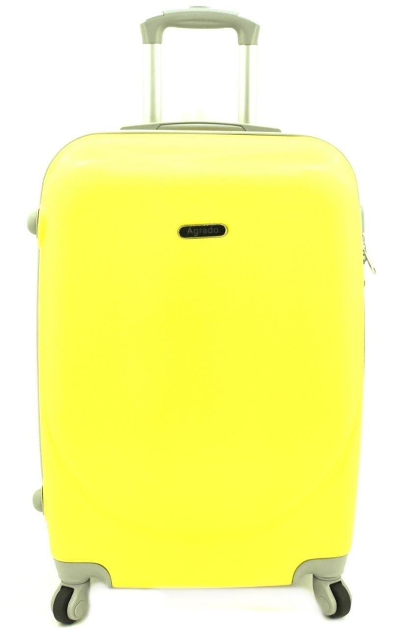 Cestovní kufr skořepinový na čtyřech kolečkách Agrado (L) 90l - žlutá 6011 (L)