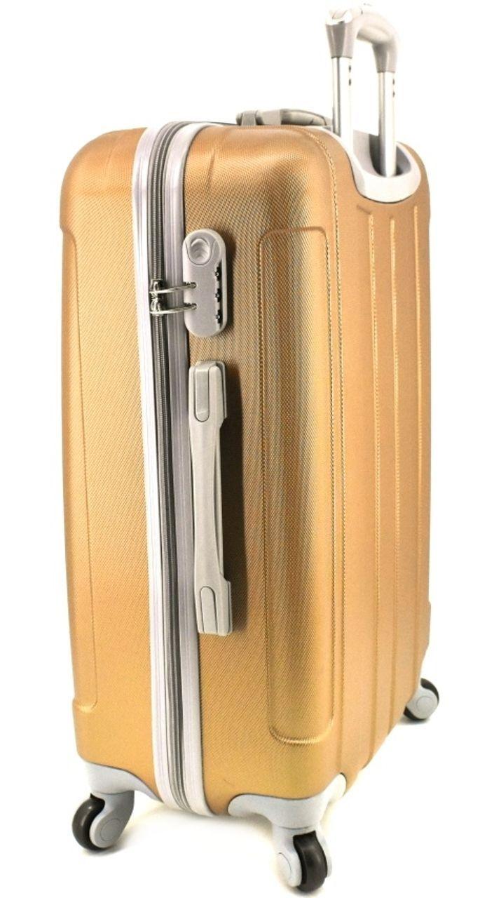 Cestovní palubní kufr skořepinový na čtyřech kolečkách Agrado (S) 40l - černá 6018 (S)