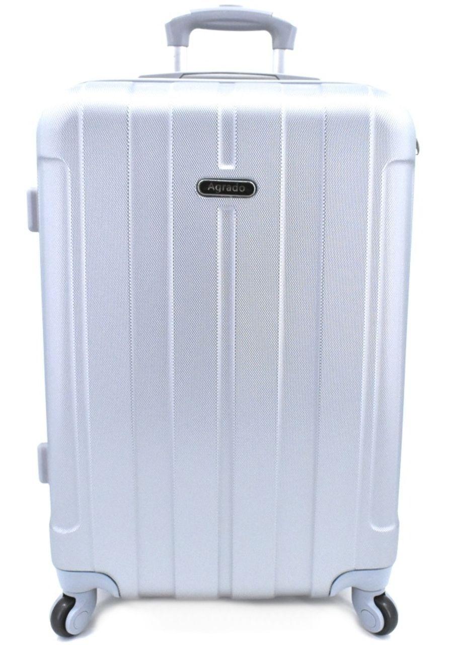 Cestovní palubní kufr skořepinový na čtyřech kolečkách Agrado (S) 40l - stříbrná 6018 (S)