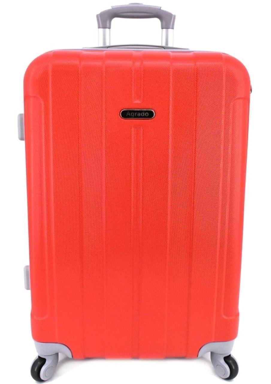Cestovní palubní kufr skořepinový na čtyřech kolečkách Agrado (S) 40l - červená 6018 (S)