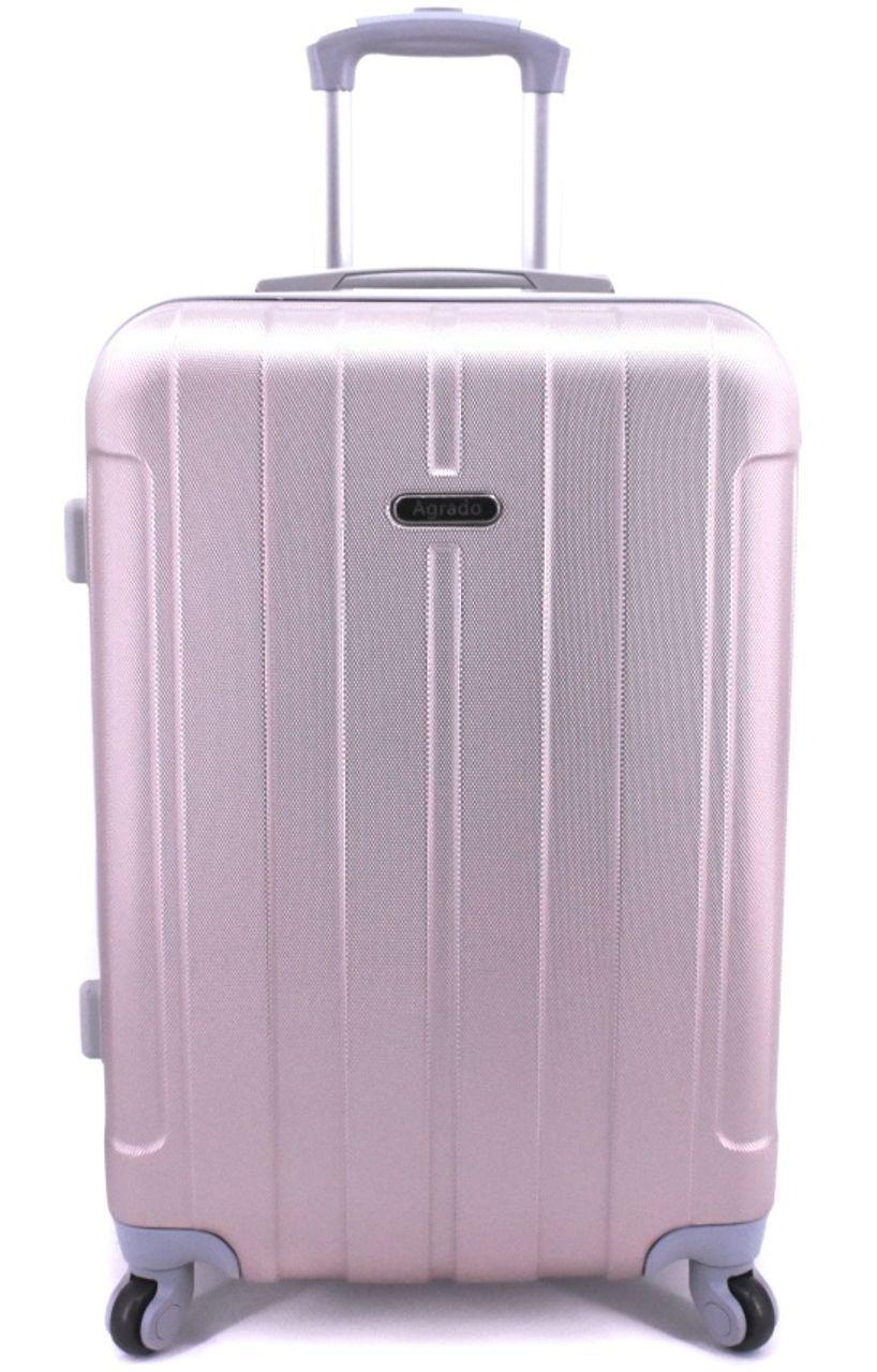 Cestovní palubní kufr skořepinový na čtyřech kolečkách Agrado (S) 40l - světle růžová 6018 (S)
