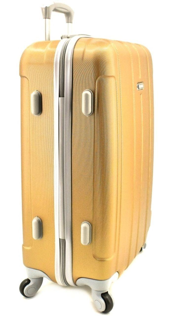 Cestovní kufr skořepinový na čtyřech kolečkách Agrado (M) 60l - zelená (M) 6018 (M)