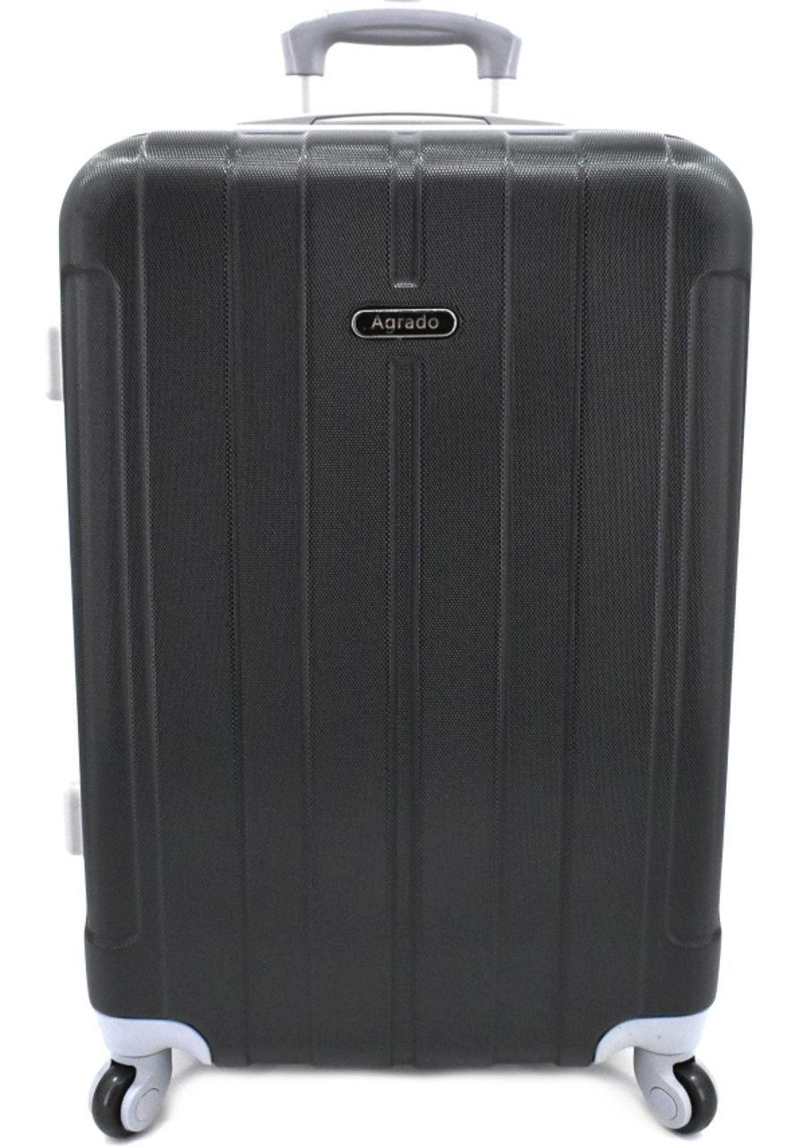 Cestovní kufr skořepinový na čtyřech kolečkách Agrado (M) 60l - černá 6018 (M)