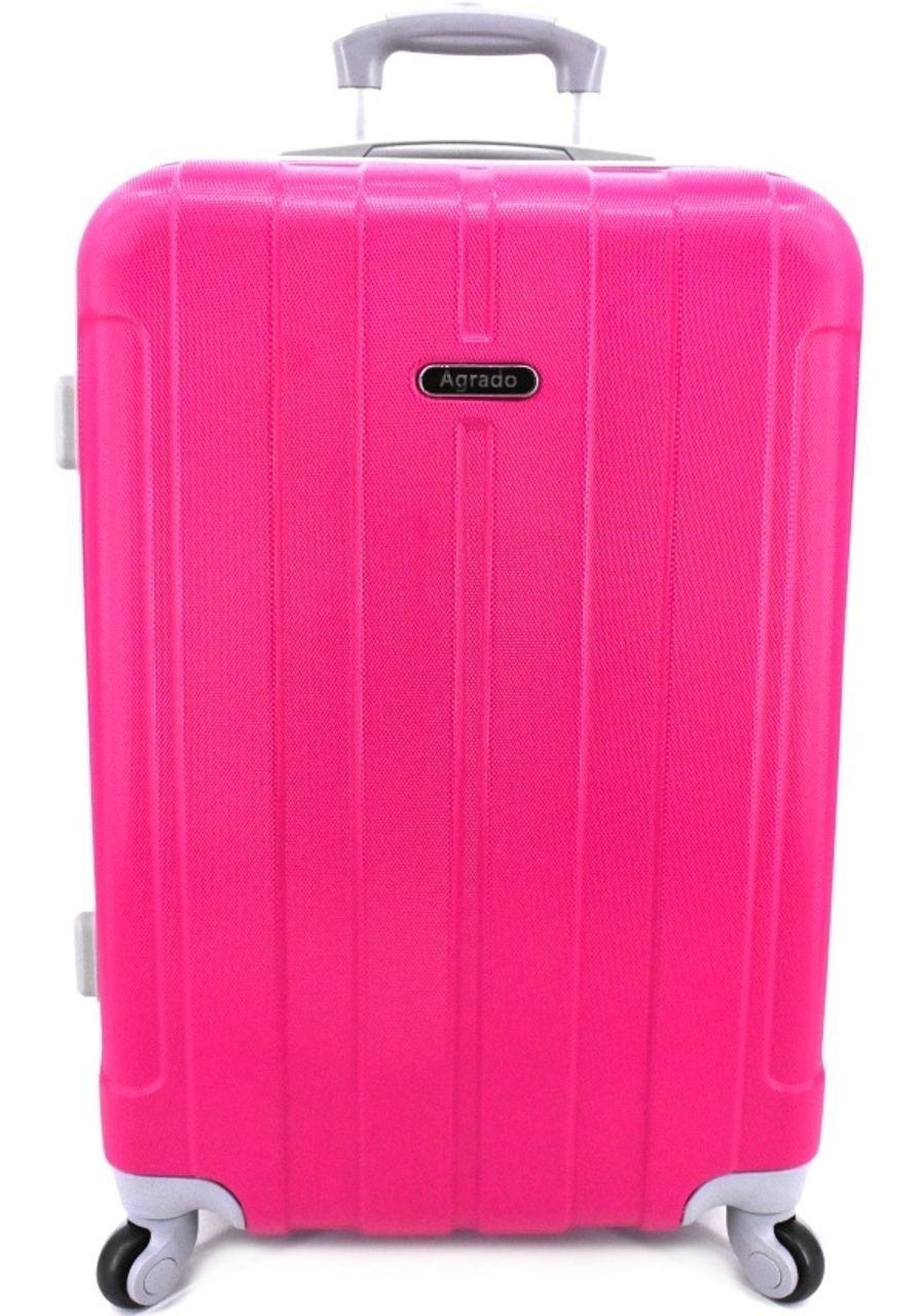 Cestovní kufr skořepinový na čtyřech kolečkách Agrado (M) 60l - fuxia 6018 (M)
