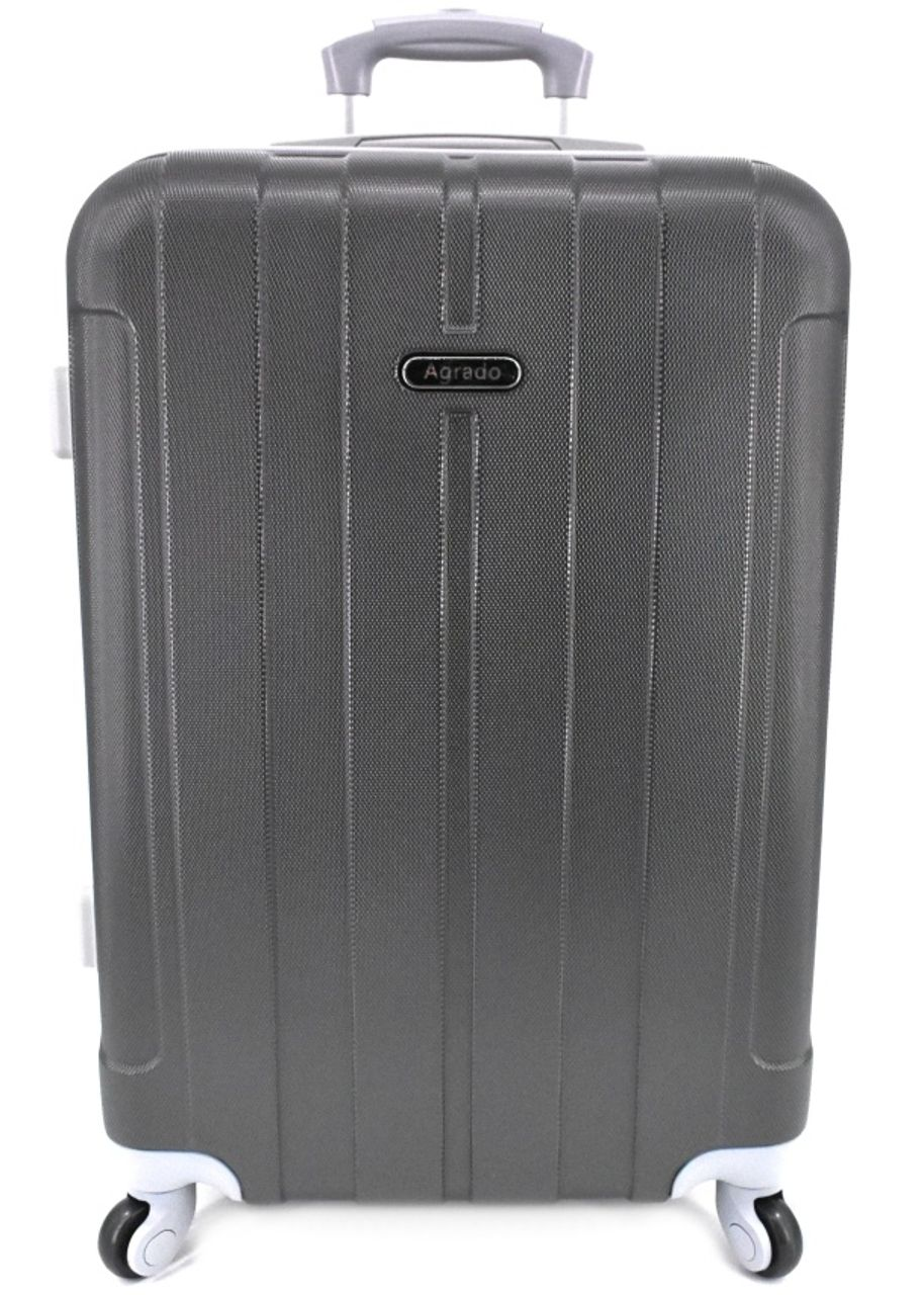 Cestovní kufr skořepinový na čtyřech kolečkách Agrado (M) 60l - tmavě šedá 6018 (M)