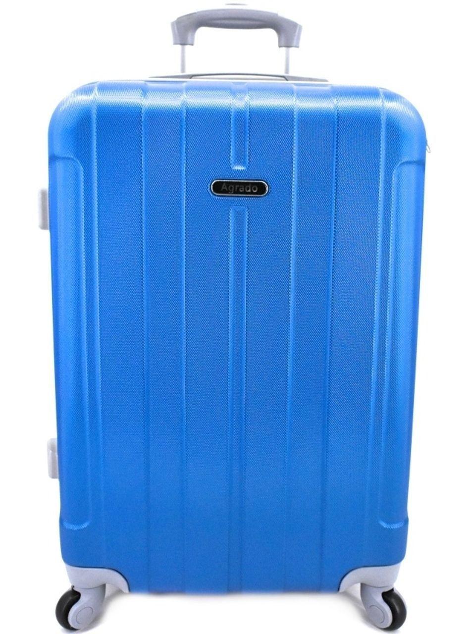 Cestovní kufr skořepinový na čtyřech kolečkách Agrado (M) 60l - modrá 6018 (M)