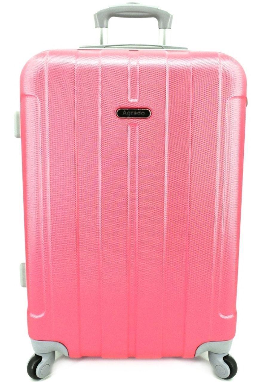 Cestovní kufr skořepinový na čtyřech kolečkách Agrado (L) 90l - růžová 6018 (L)
