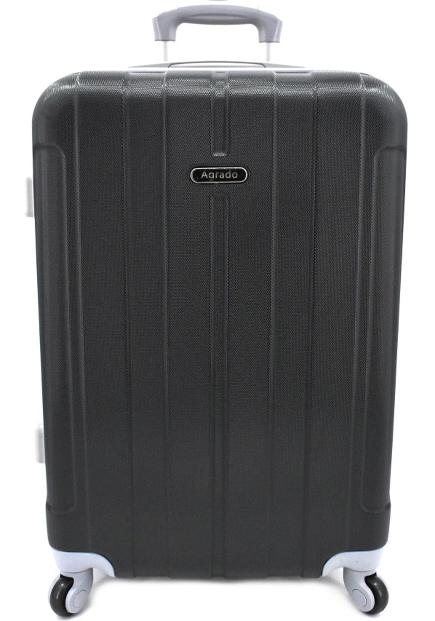 Cestovní kufr skořepinový na čtyřech kolečkách Agrado (L) 90l - černá 6018 (L)