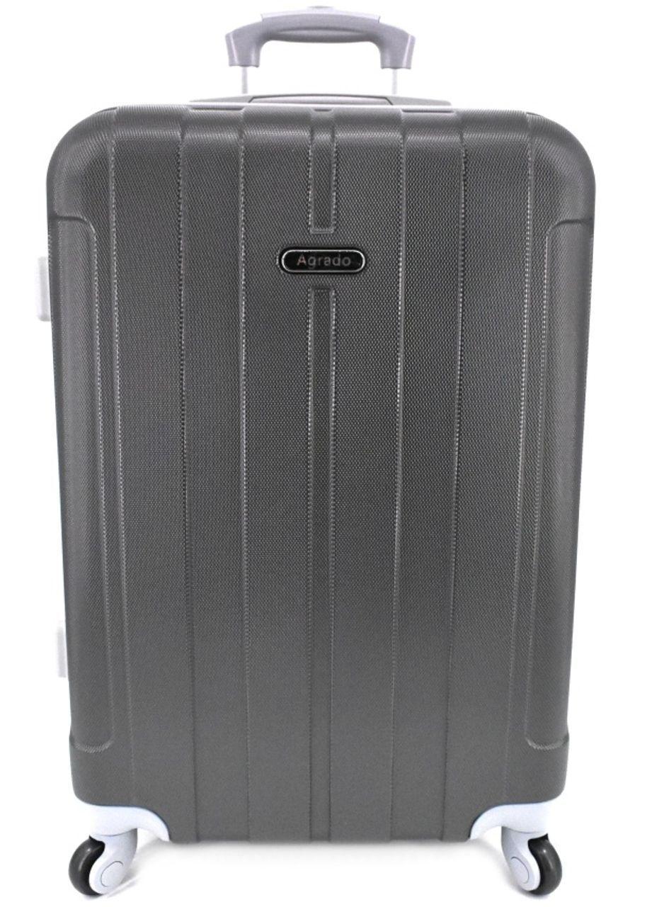 Cestovní kufr skořepinový na čtyřech kolečkách Agrado (L) 90l - tmavě šedá 6018 (L)