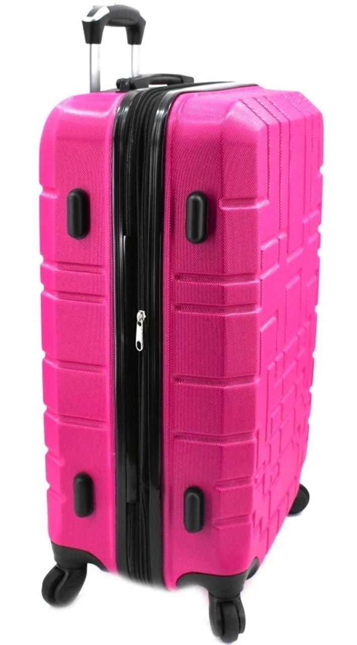 Cestovní palubní kufr skořepinový na čtyřech kolečkách (S) 50l - červená 6015 (S)