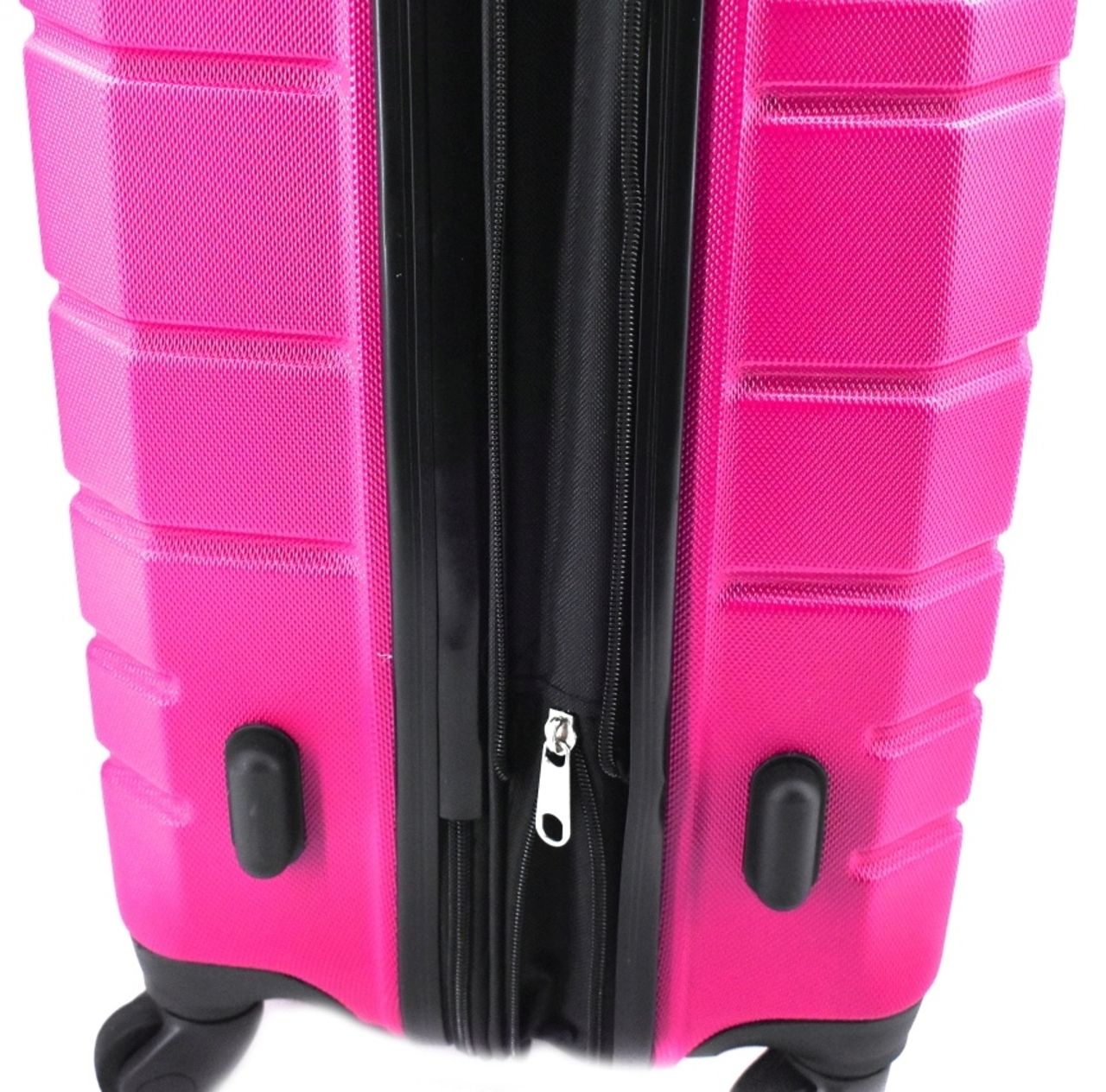 Cestovní palubní kufr skořepinový na čtyřech kolečkách (S) 50l - stříbrná 6015 (S)