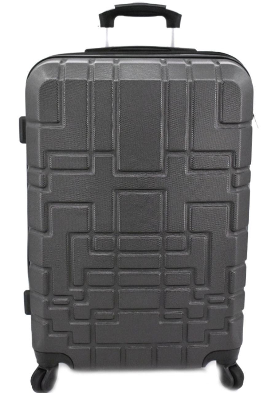 Cestovní palubní kufr skořepinový na čtyřech kolečkách (S) 50l - tmavě šedá 6015 (S)