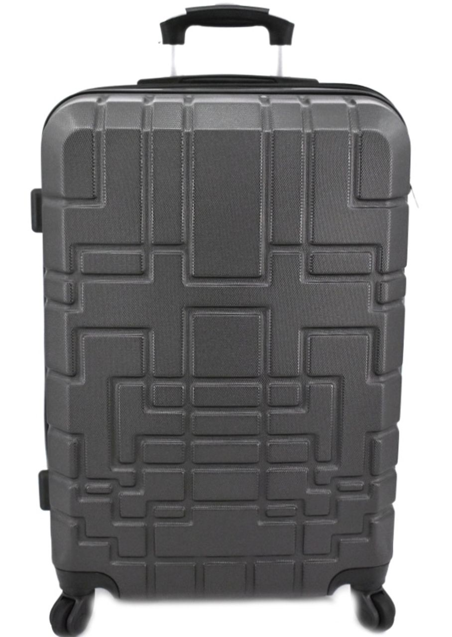 Cestovní kufr skořepinový na čtyřech kolečkách (M) 80l - tmavě šedá 6015 (M)