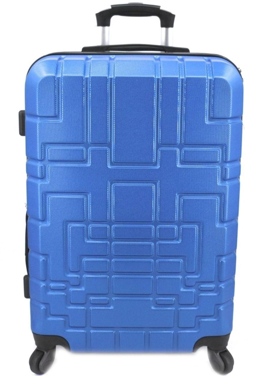 Cestovní kufr skořepinový na čtyřech kolečkách (M) 80l -modrá 6015 (M)