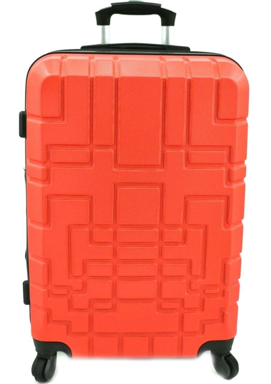Cestovní kufr skořepinový na čtyřech kolečkách (M) 80l - červená 6015 (M)