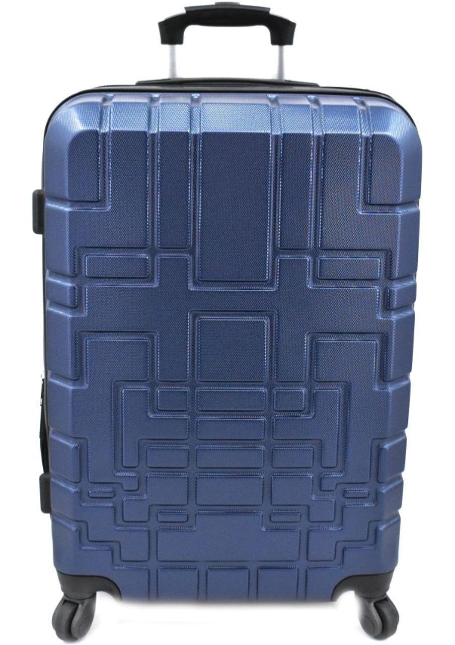 Cestovní kufr skořepinový na čtyřech kolečkách (M) 80l - tmavě modrá 6015 (M)