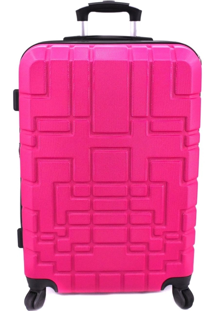 Cestovní kufr skořepinový na čtyřech kolečkách (L) 110l - fuxia 6015 (L)