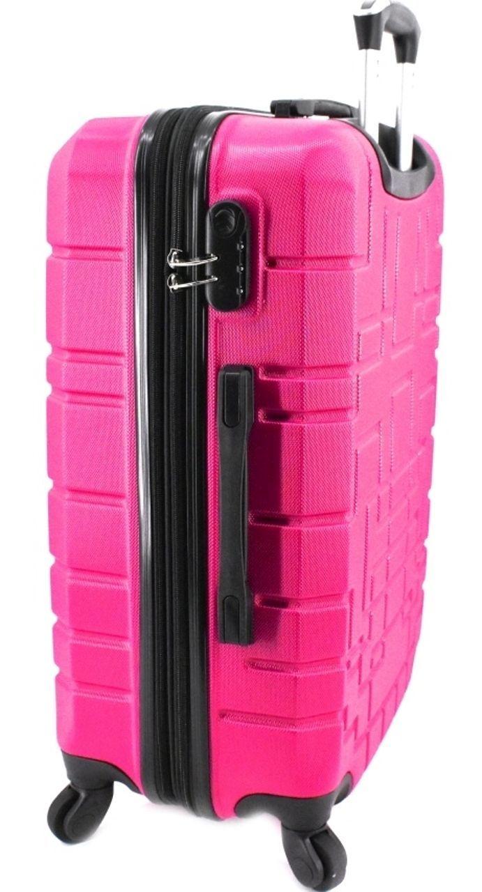 Cestovní kufr skořepinový na čtyřech kolečkách (L) 110l -krémová 6015 (L)