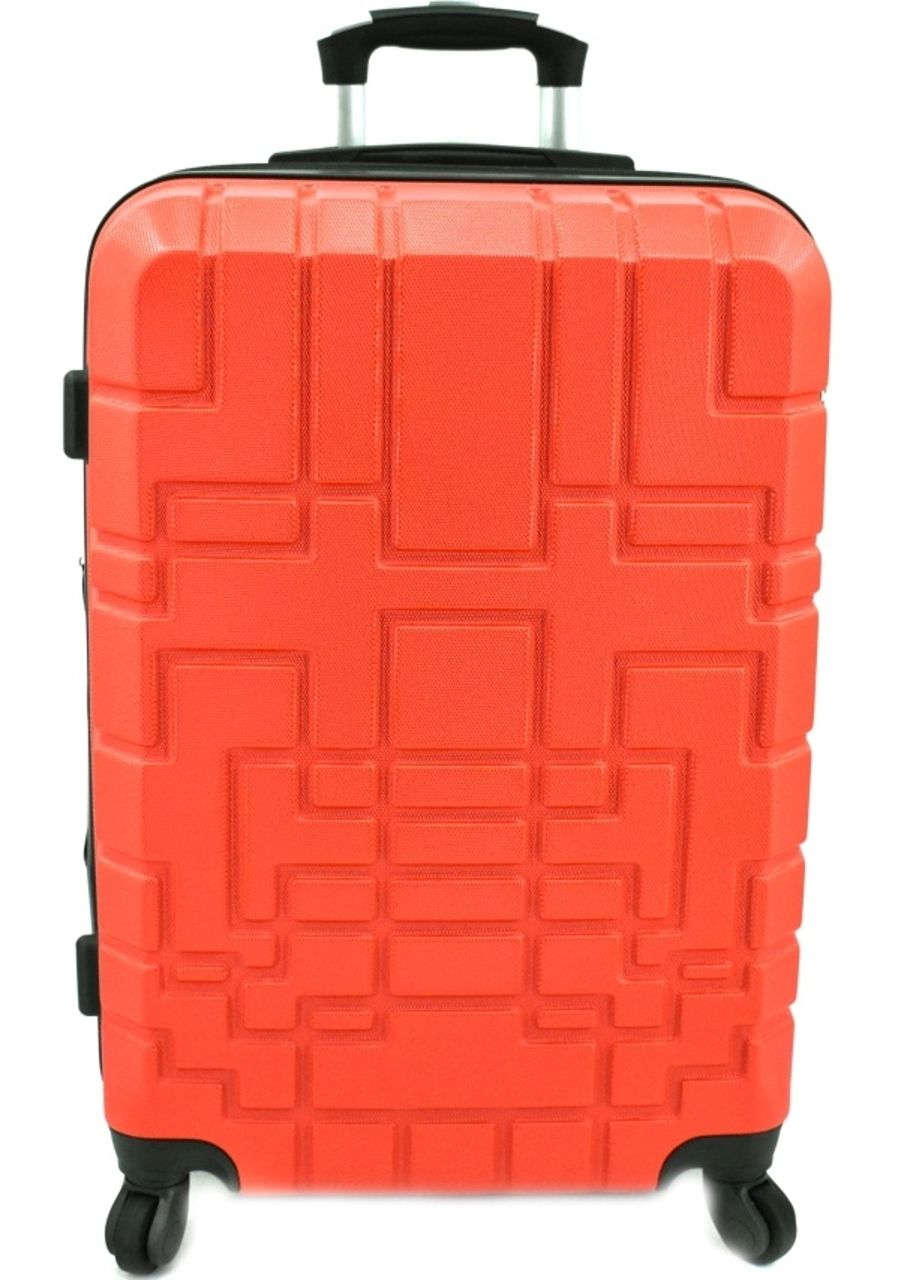 Cestovní kufr skořepinový na čtyřech kolečkách (L) 110l - červená 6015 (L)