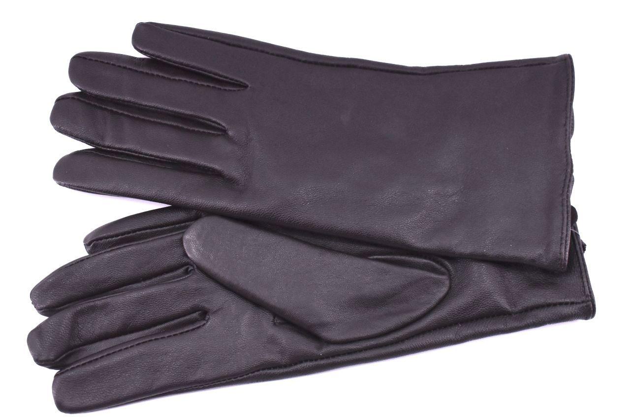 Dámské prodloužené kožené rukavice Every - tmavě hnědá (S)