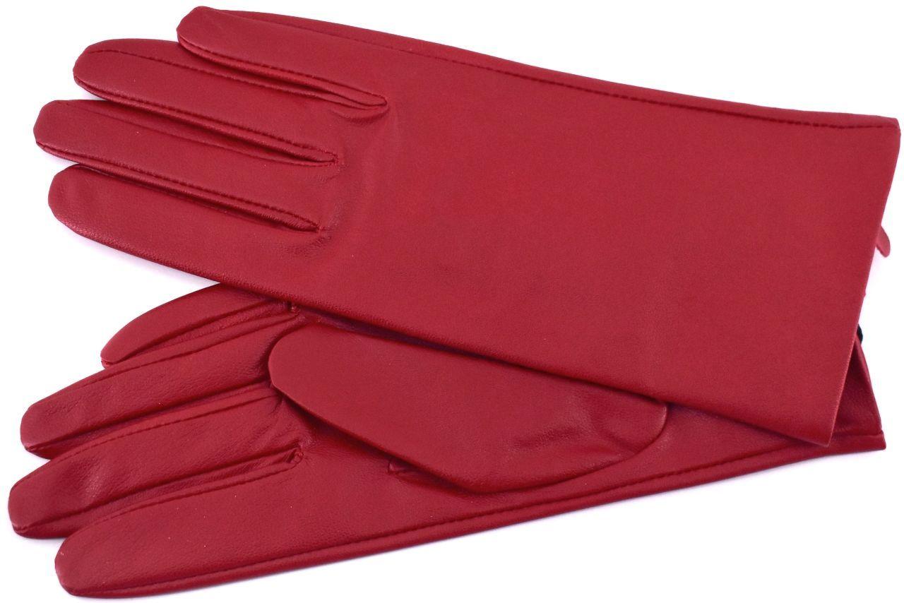 Dámské kožené rukavice Every - červená (S)