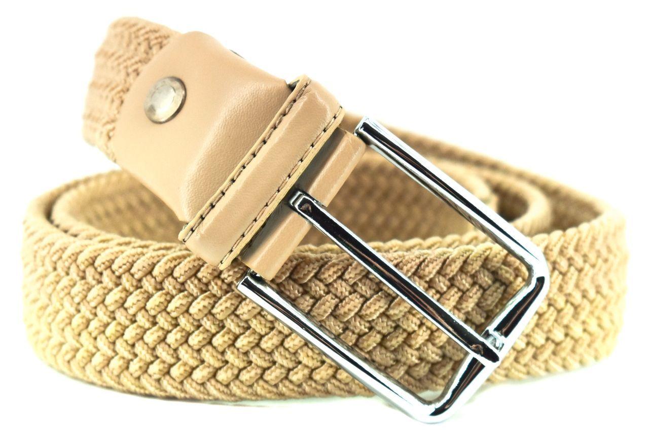 Jednobarevný elastický opasek Arteddy - béžová/110 38506