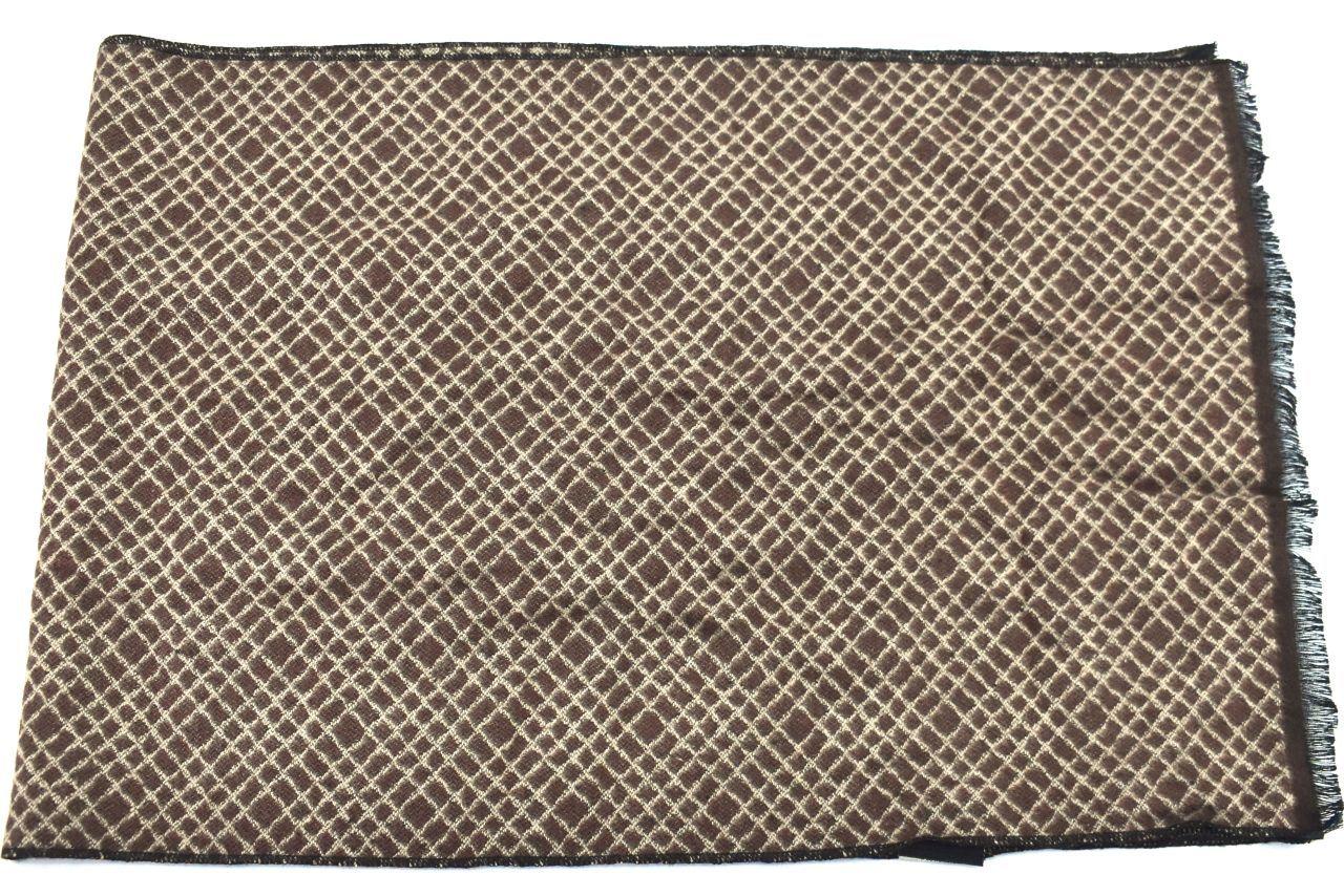 Moderní zimní  šála Coveri v dárkové krabičce - béžová