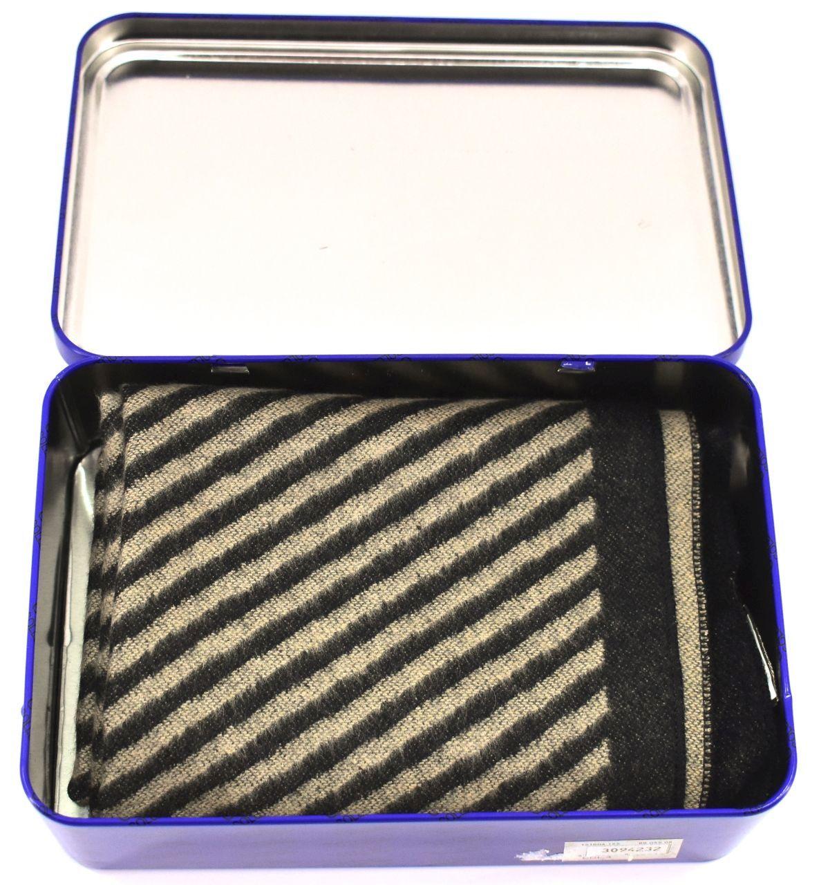 Moderní zimní pruhovaná šála Coveri v dárkové krabičce - šedá