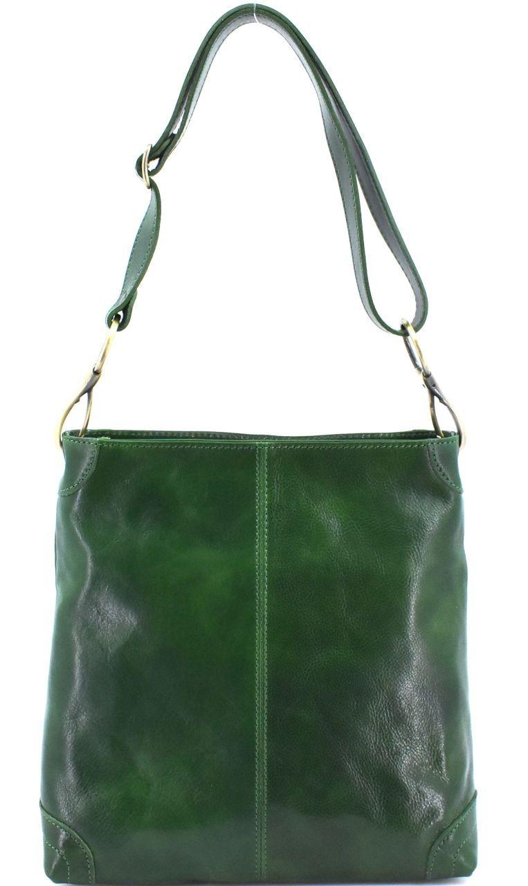 Dámská kožená kabelka Arteddy - zelená 29629