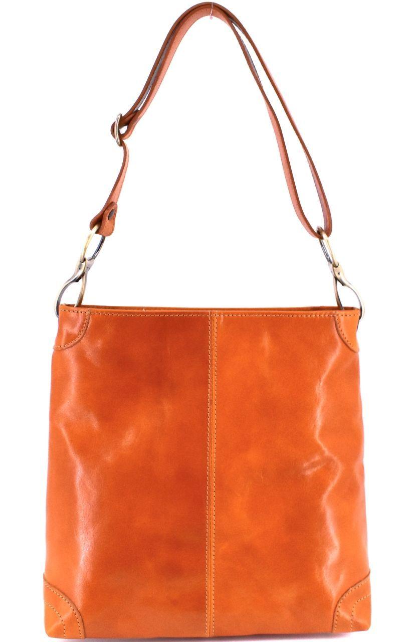 Dámská kožená kabelka Arteddy - camel 29629