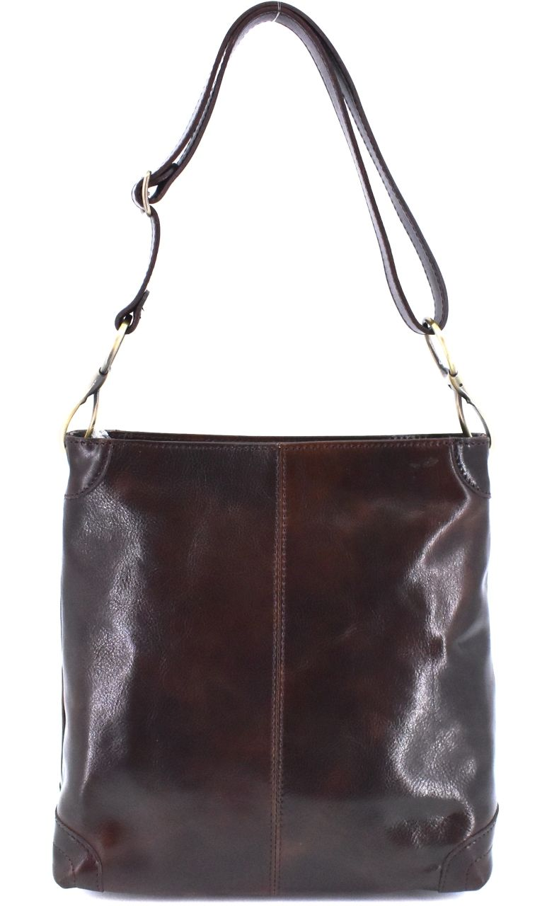 Dámská kožená kabelka Arteddy - tmavě hnědá 29629