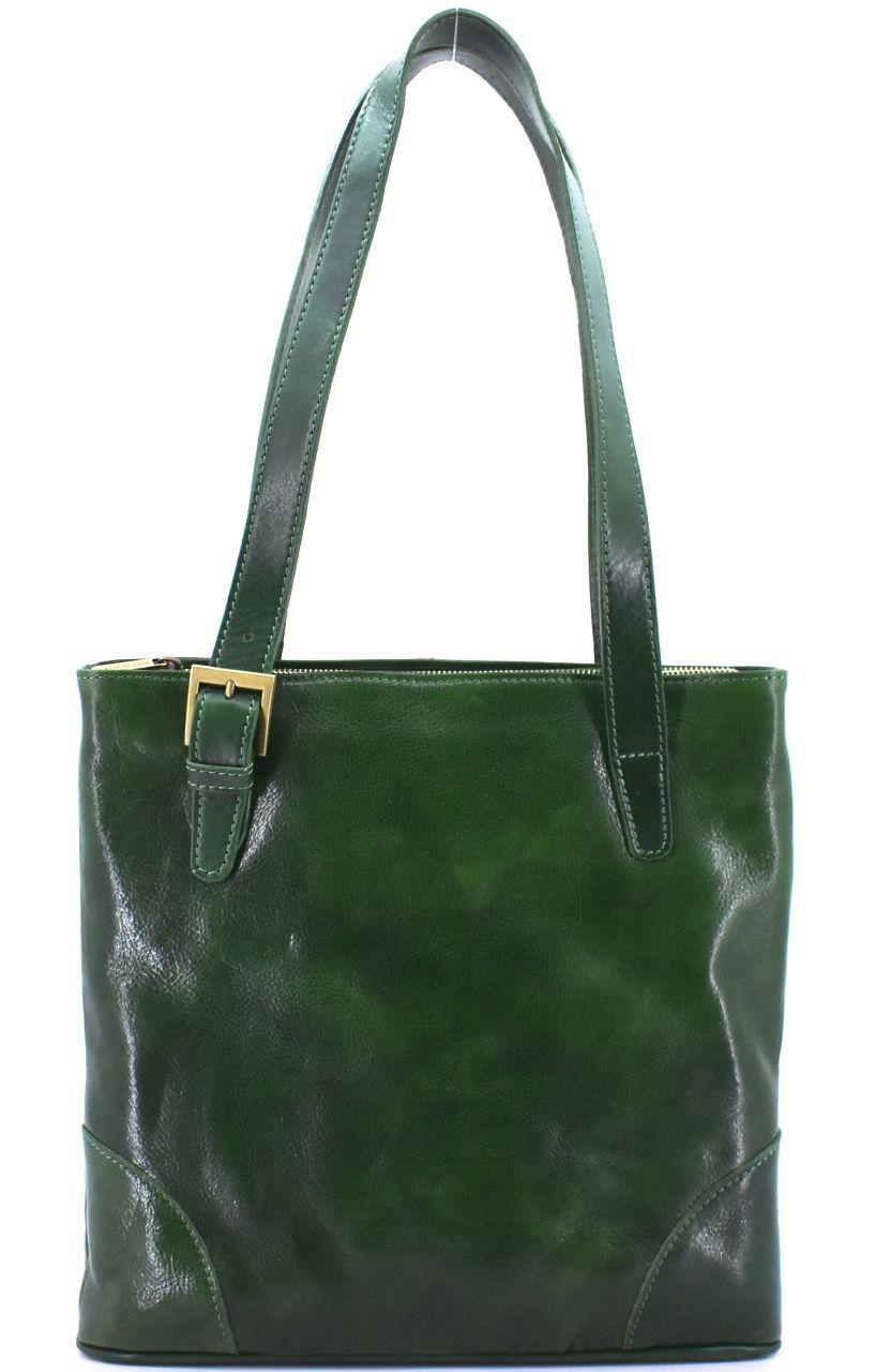 Dámská kožená kabelka Arteddy - zelená 29611