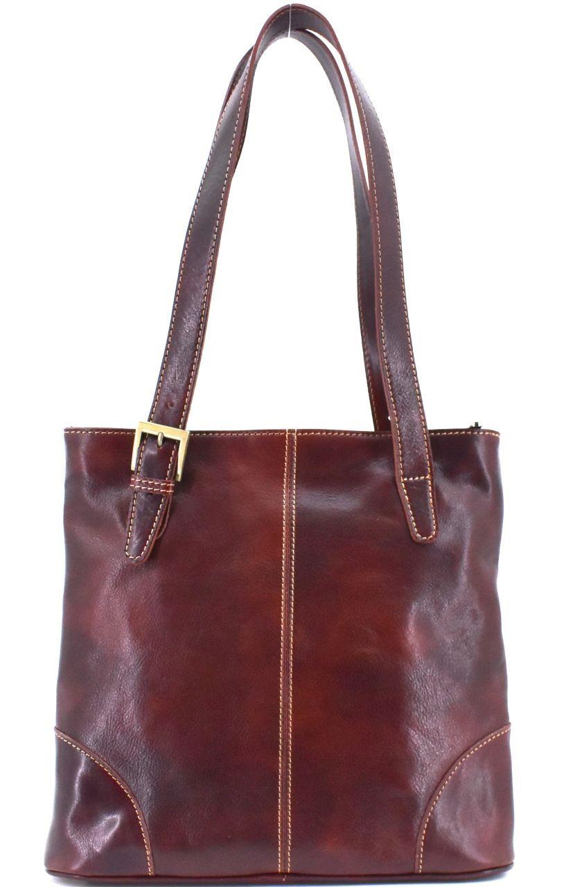 Dámská kožená kabelka Arteddy - hnědá 29611