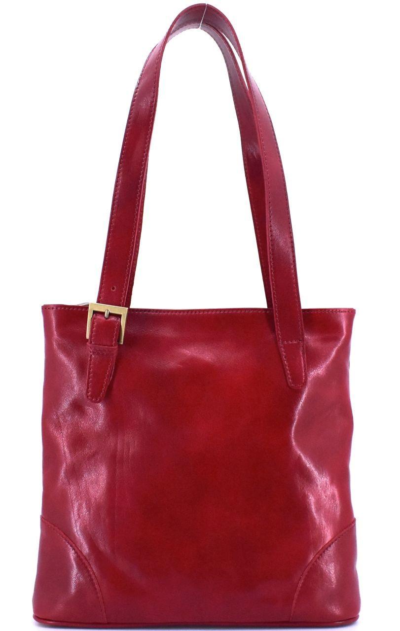 Dámská kožená kabelka Arteddy - tmavě červená 29611