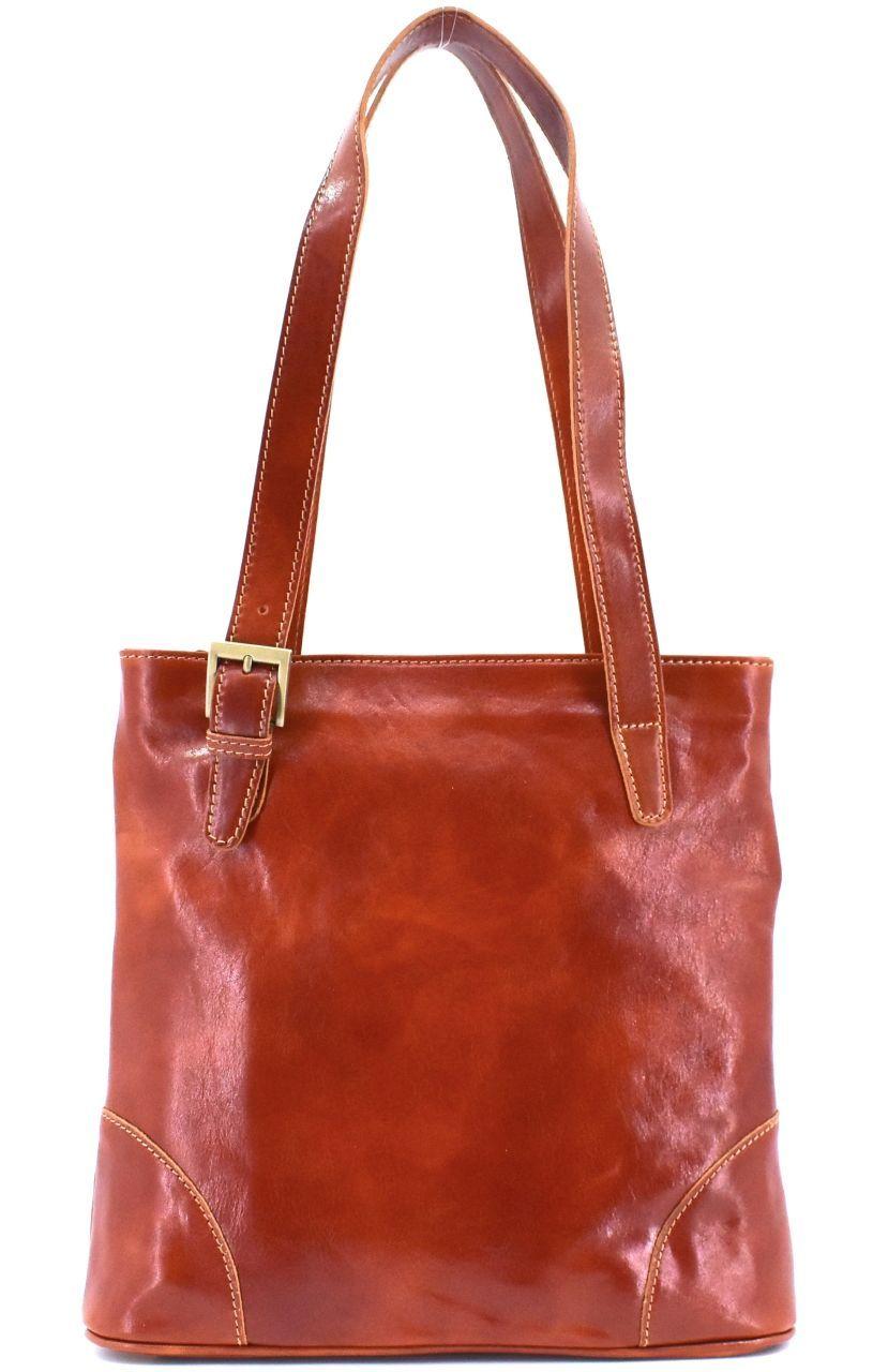 Dámská kožená kabelka Arteddy - koňak 29611