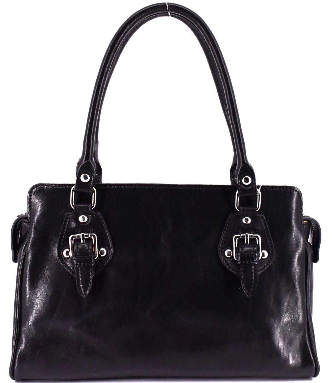 Dámská kožená kabelka Arteddy - černá 29612
