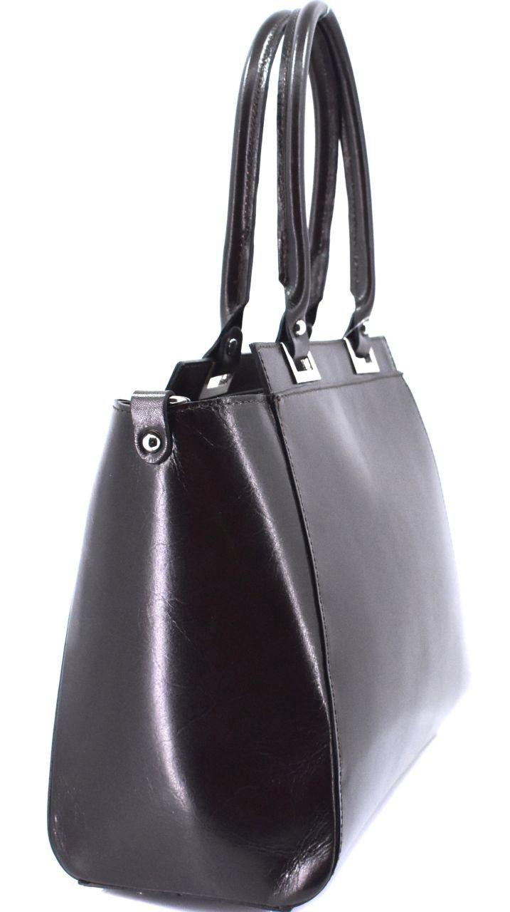 Dámská kožená kabelka Arteddy - tmavě hnědá 29567