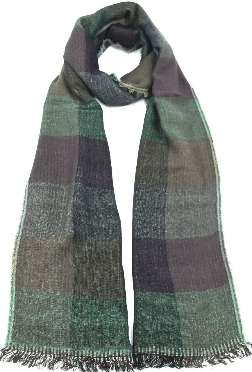 Dámský šátek s kostkovaným vzorem - zelená