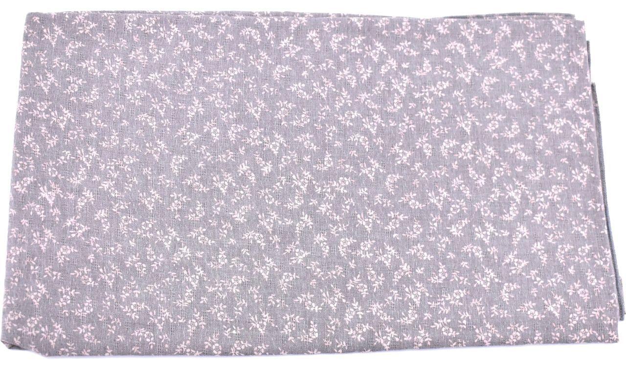 Šátek  s květovaným vzorem - šedá