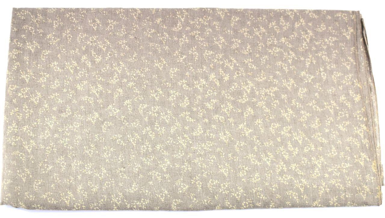 Šátek  s květovaným vzorem - béžová
