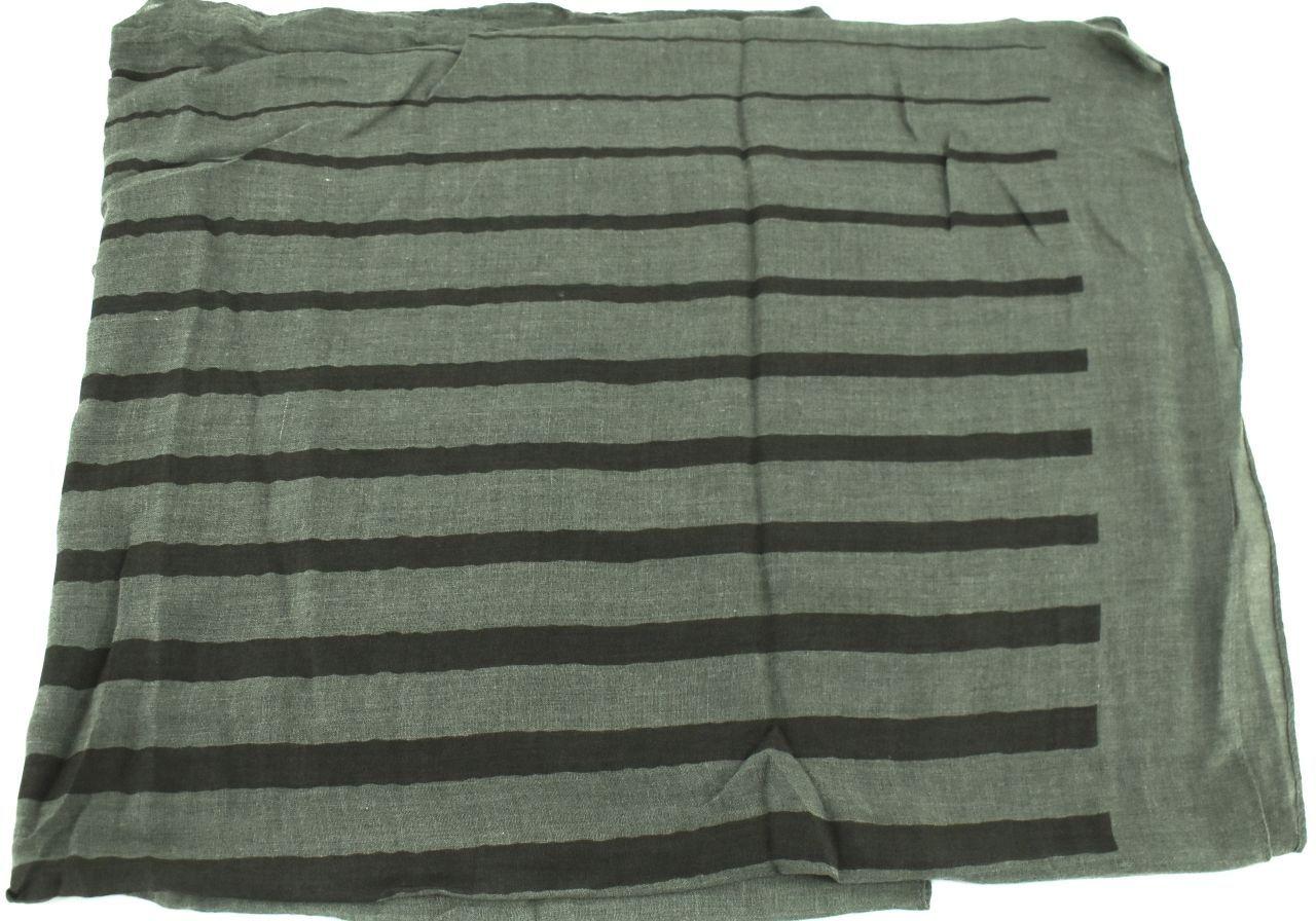 Moderní pruhovaný šátek - zelená