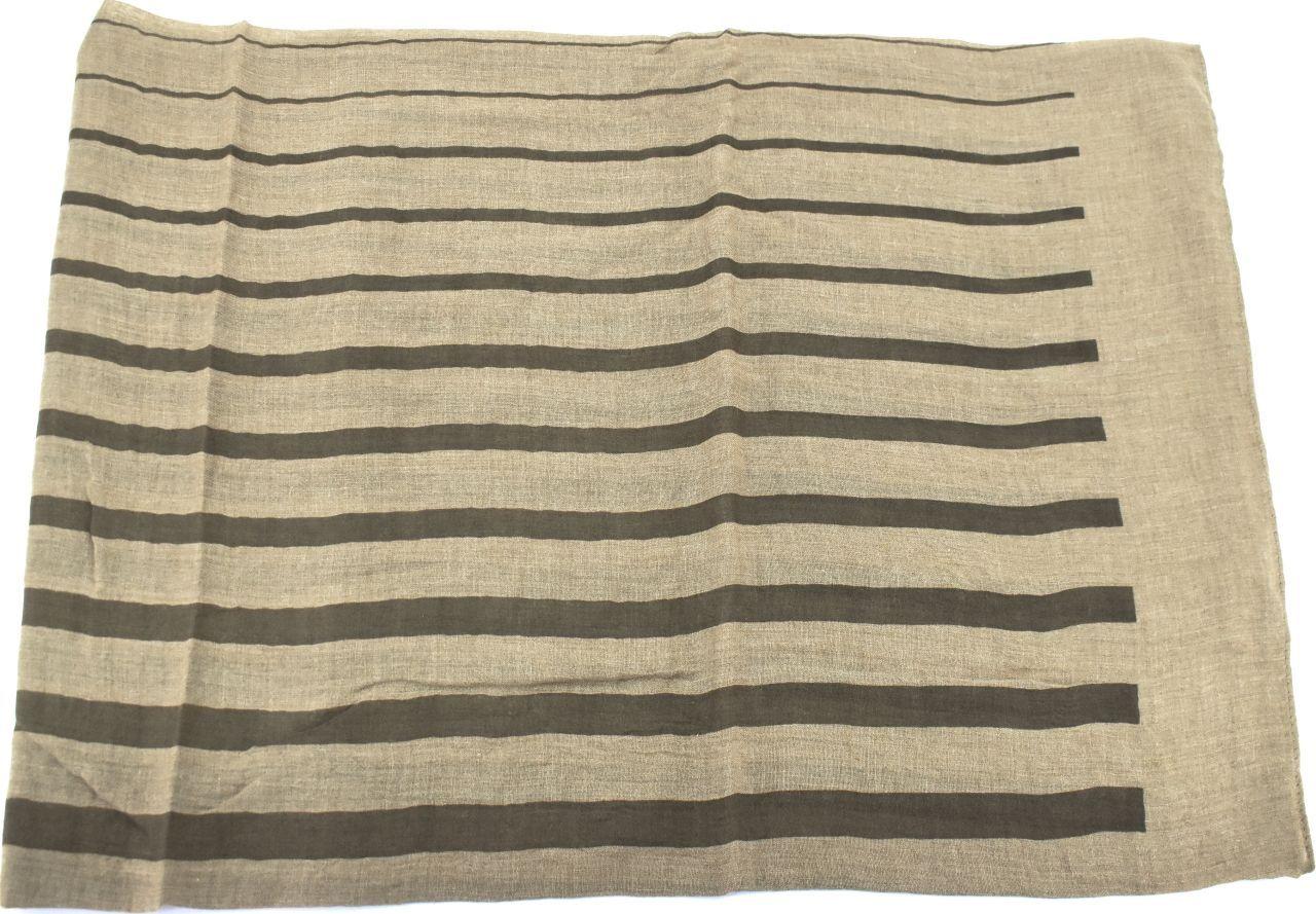 Moderní pruhovaný šátek - béžová