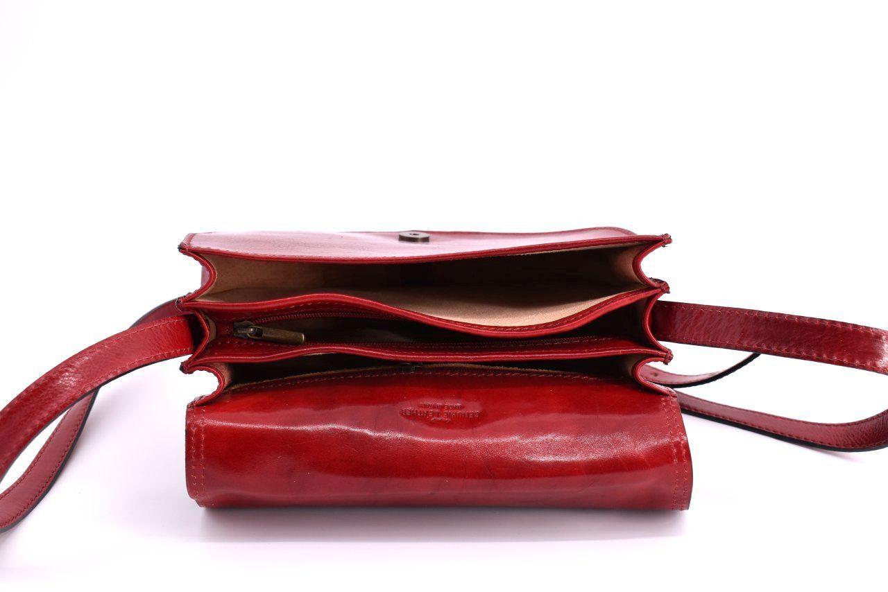 Dámská kožená kabelka crossbody (lovecká) Arteddy - zelená