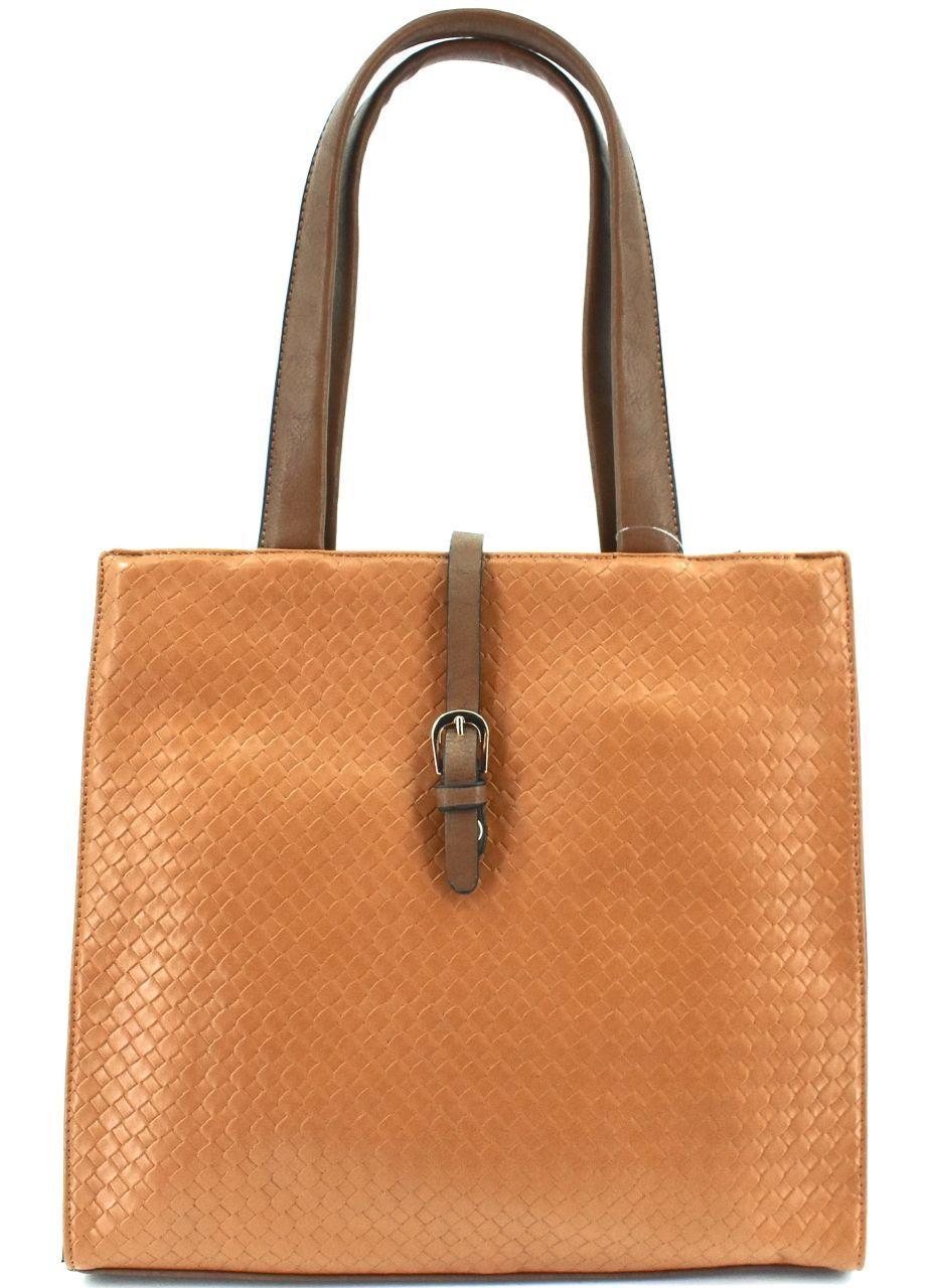 Moderní dámská kabelka - béžová 26470