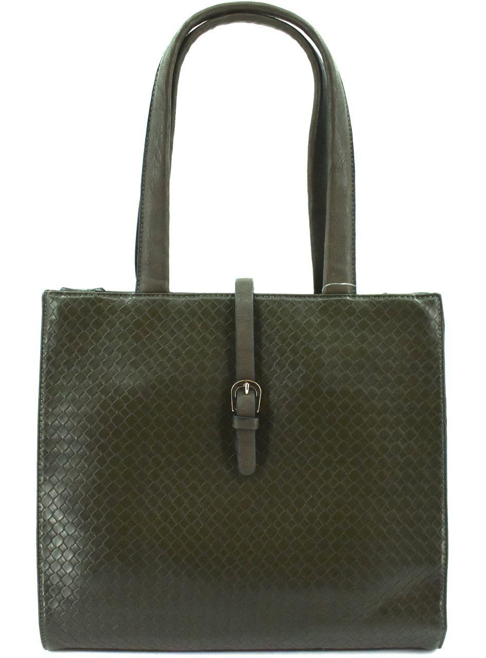 Moderní dámská kabelka - tmavě zelená 26470