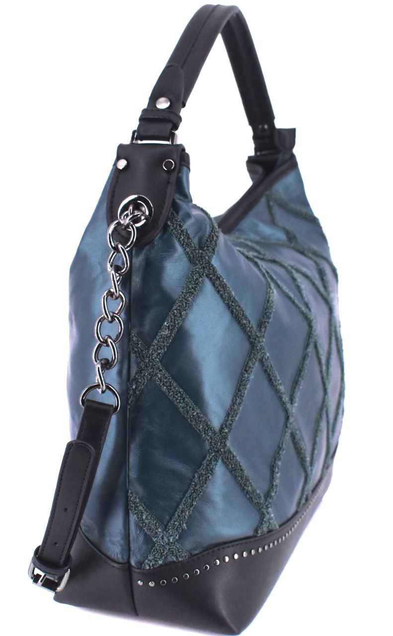Moderní dámská kabelka - tmavě hnědá 38114