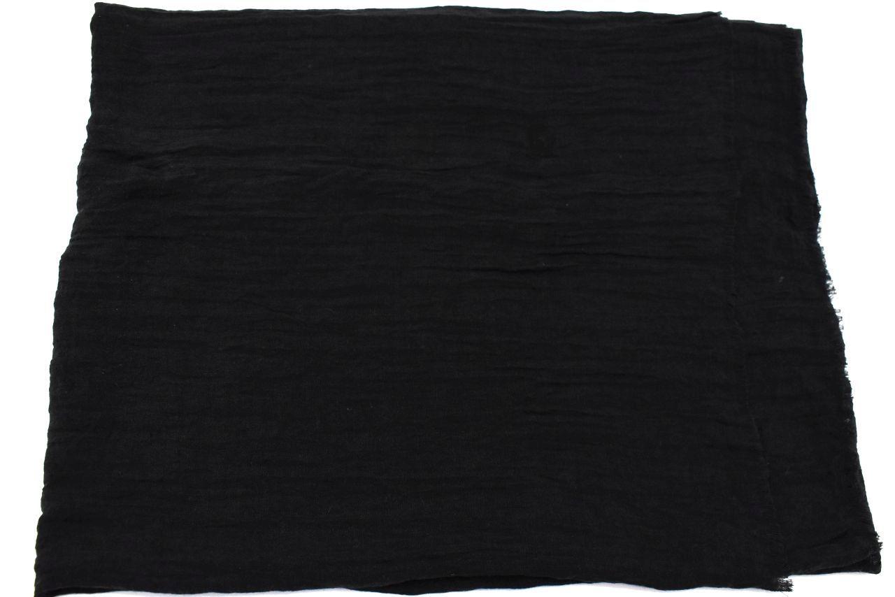 Dámský jednobarevný šátek - černá
