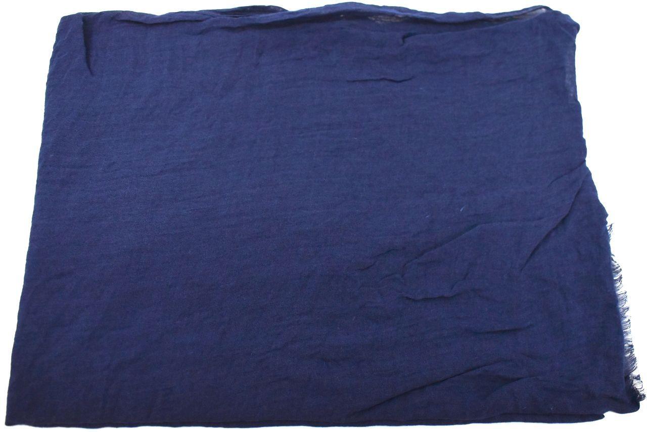 Dámský jednobarevný šátek - tmavě modrá