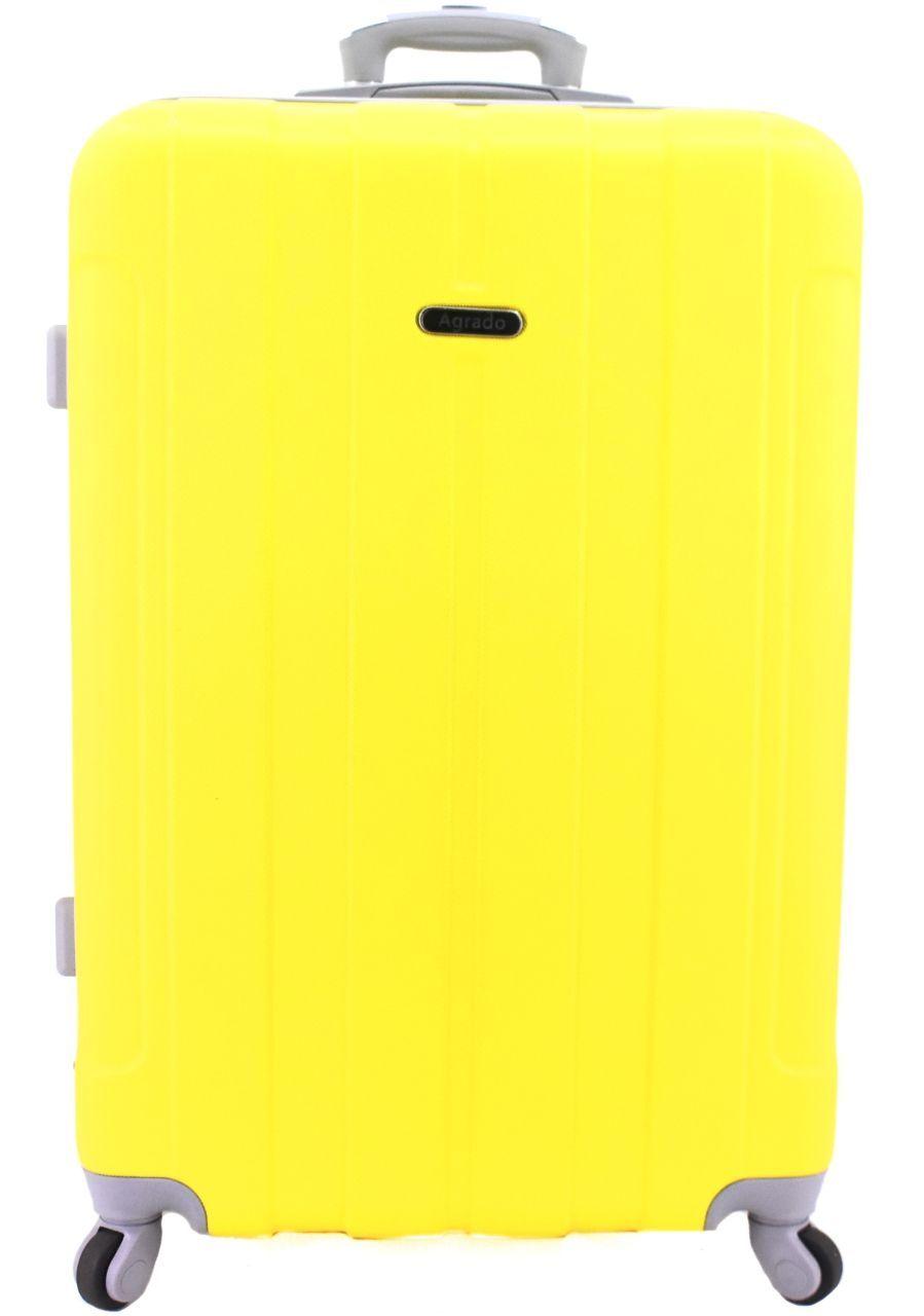Levně Cestovní palubní kufr skořepinový na čtyřech kolečkách Agrado - (S) 40l - žlutá